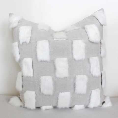 Rabbit Check Pillow