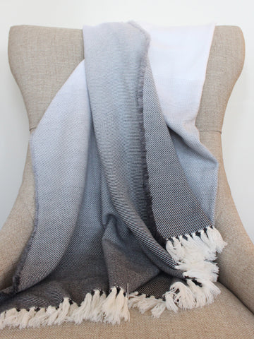 Gray Ombre Throw