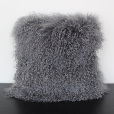Silver Wool Pillow