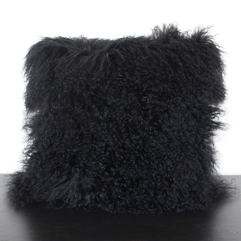 Black Wool Pillow