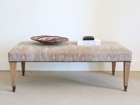 Antique Rug Bench