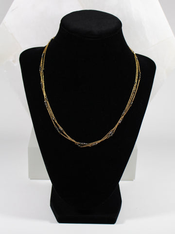Pyrite Seed Bead Necklace