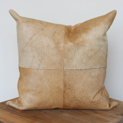 Buff Cowhide Pillow