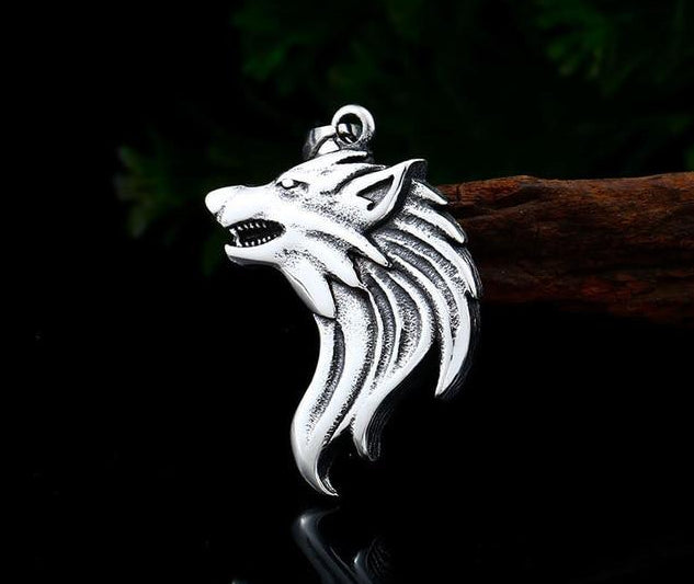 Beier 316L stainless steel dropshipping hot sell viking wolf men necklace  celt wolf head pendant Fashion Jewelry LP302