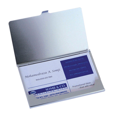 Silver Aluminium Business Card Holder