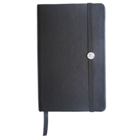Black A6 Notebook with Elastic Band