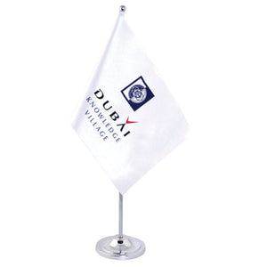 White Satin Desk Flag