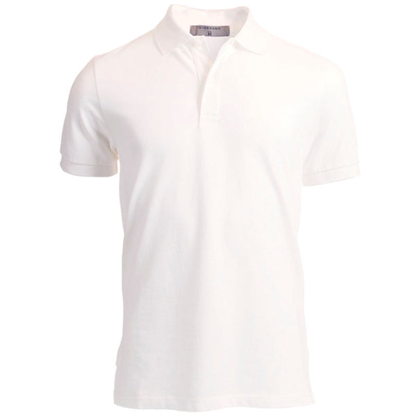 White Giordano Short Sleeve Polo Shirt