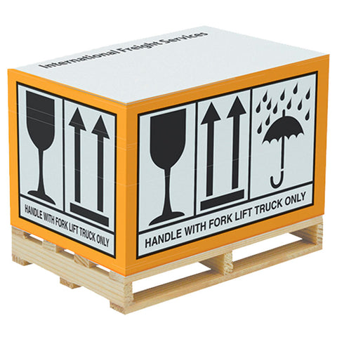 Rectangular paper block with Pallet