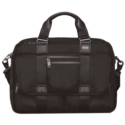 Black - Brown Laptop Bag