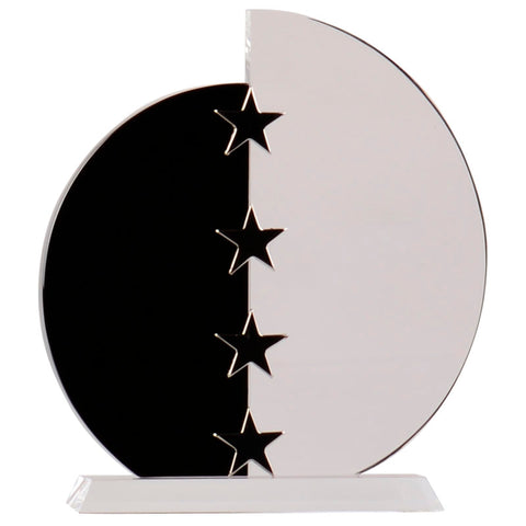 Semi Oval Glass Award