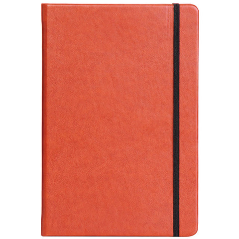 Tan A5 Notebook with Elastic Band