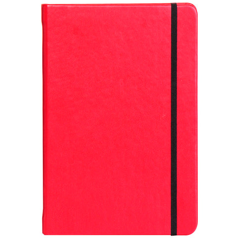 Red A5 Notebook with Elastic Band