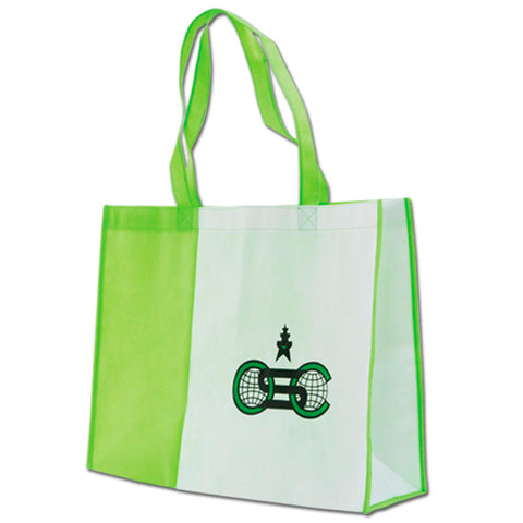 Green - White Non Woven Bag