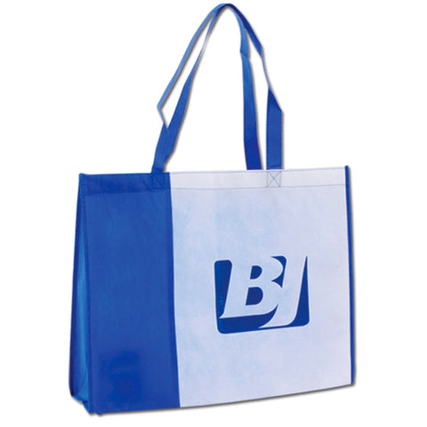 Blue - White Non Woven Bag