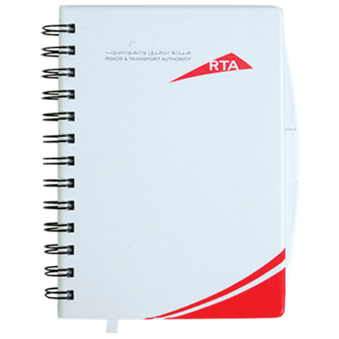 White Spiral Notebook