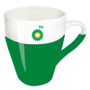 Green - White Ceramic Mug