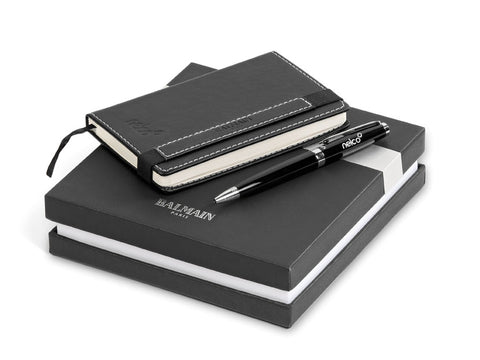 Balmain Notebook and Pen Gift Set