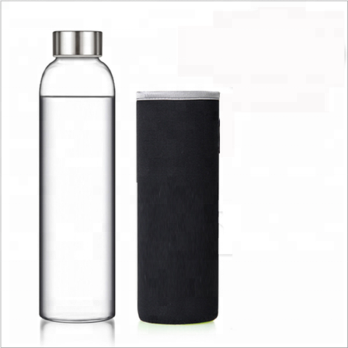 500ml Glass Water Bottle with holder