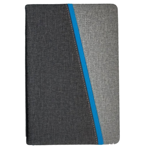 Black / Grey A5 Notebook with Blue trim