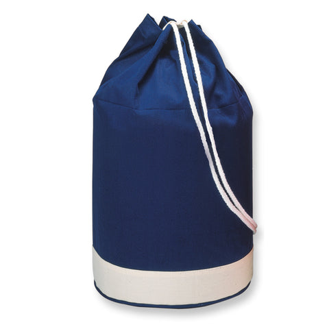 Cotton duffle bag bicolour
