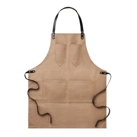 Apron in leather