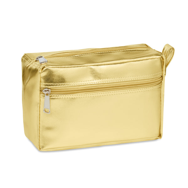 Cosmetic bag in shiny PVC