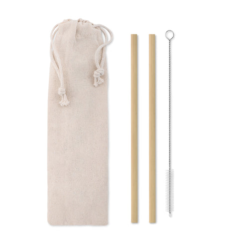 Bamboo Straw w/brush in pouch