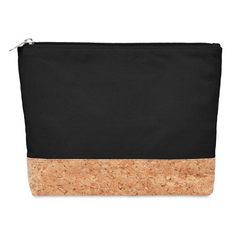 Cork & cotton cosmetic bag