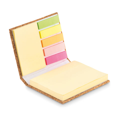 Cork sticky note memo pad