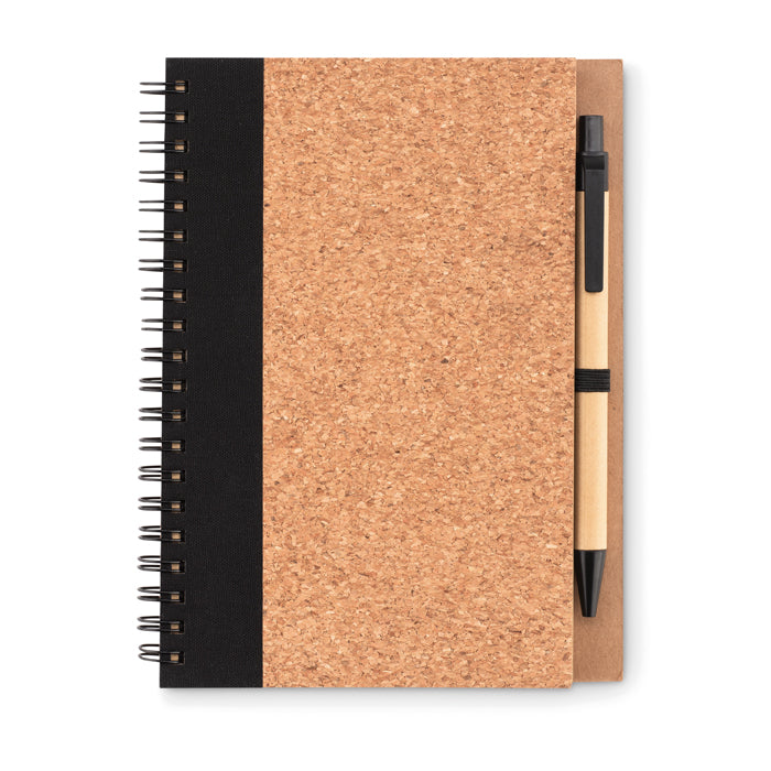 Cork notebook with pen