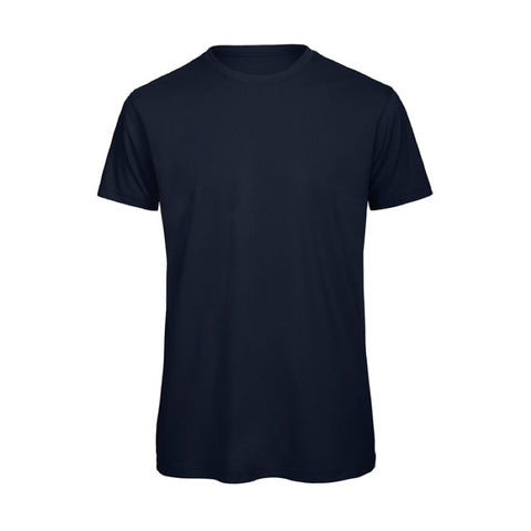 Navy Blue Short Sleeve Round Neck Shirt