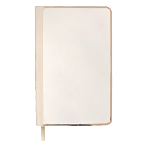 White A5 Notebook with a Gold rim
