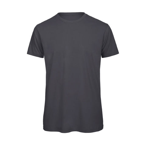 Dark Grey Short Sleeve Round Neck Shirt