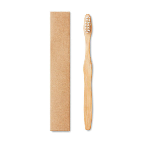 Bamboo toothbrush in Kraft box
