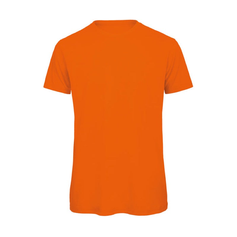 Orange Short Sleeve Round Neck Shirt
