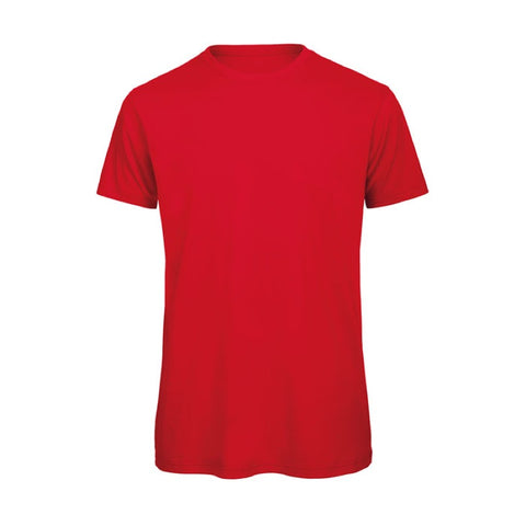 Red Short Sleeve Round Neck Shirt