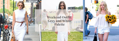 Weekend Outfit: Grey and White Palette