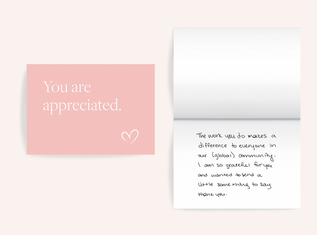Numi thank you card