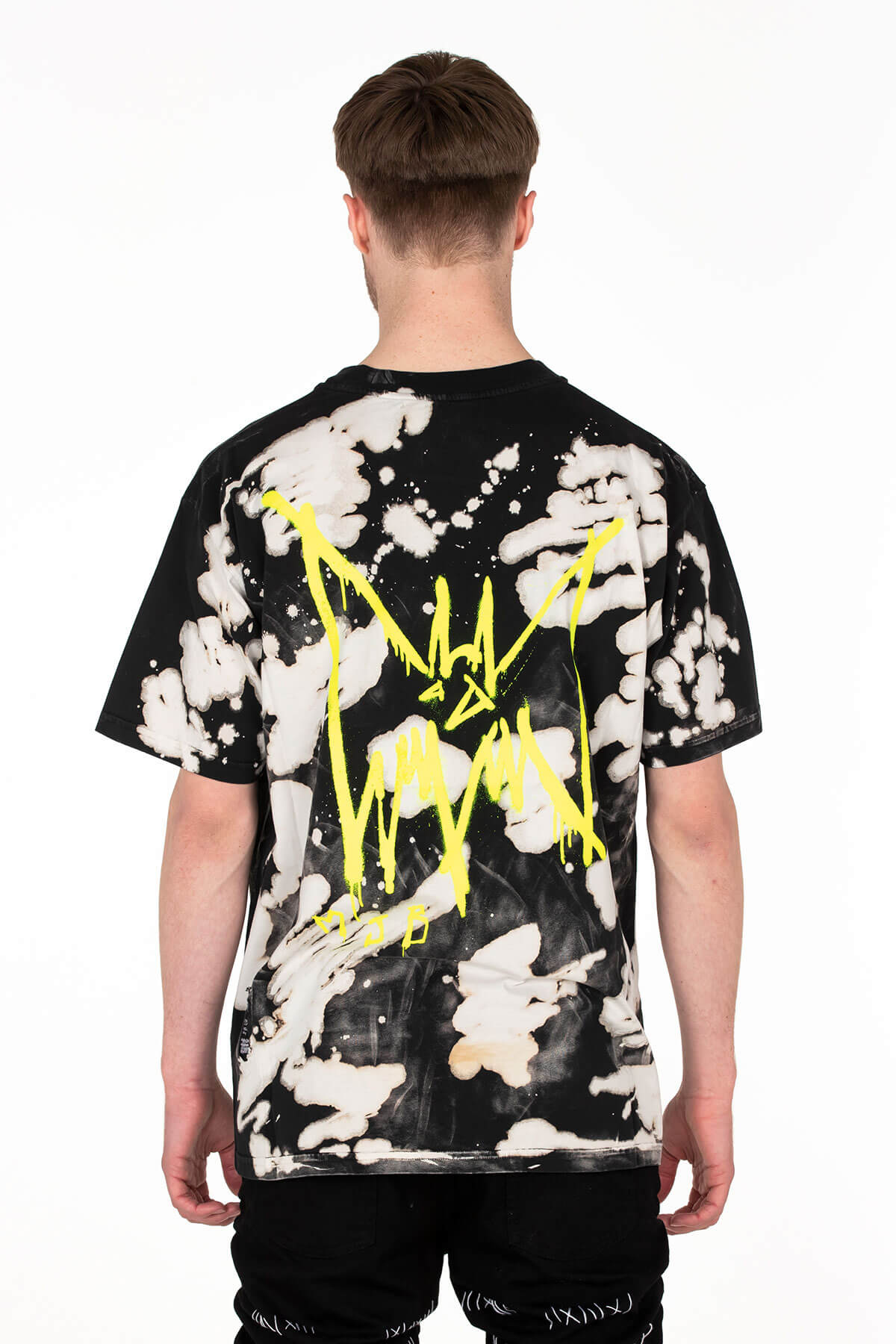 Festival T Shirt TIE DYE BLACK AND WHITE - MJB
