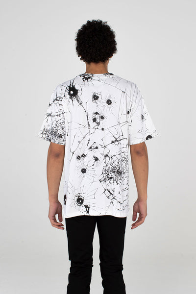 Festival T Shirt Glass Effect White