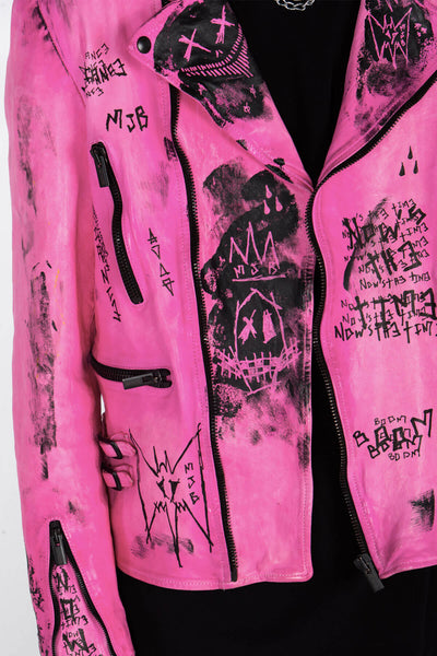 CLASSIC BIKER JACKET – HAND PAINTED