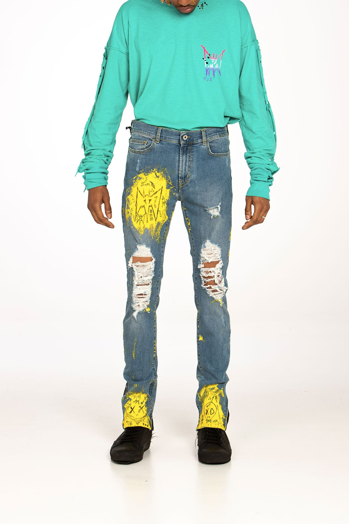 CRIXUS JEANS HAND PAINTED