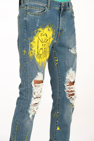 CRIXUS JEANS HAND PAINTED - MJB