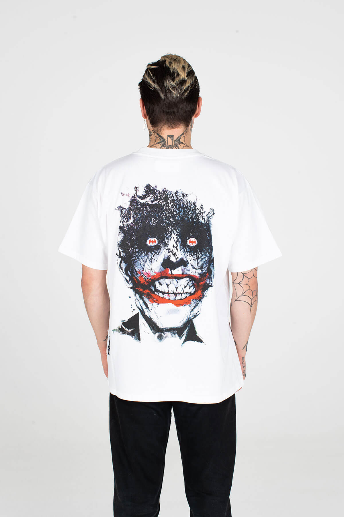 BATMAN X MJB FESTIVAL T SHIRT JOKER WHITE JOCK - TOP - MJB