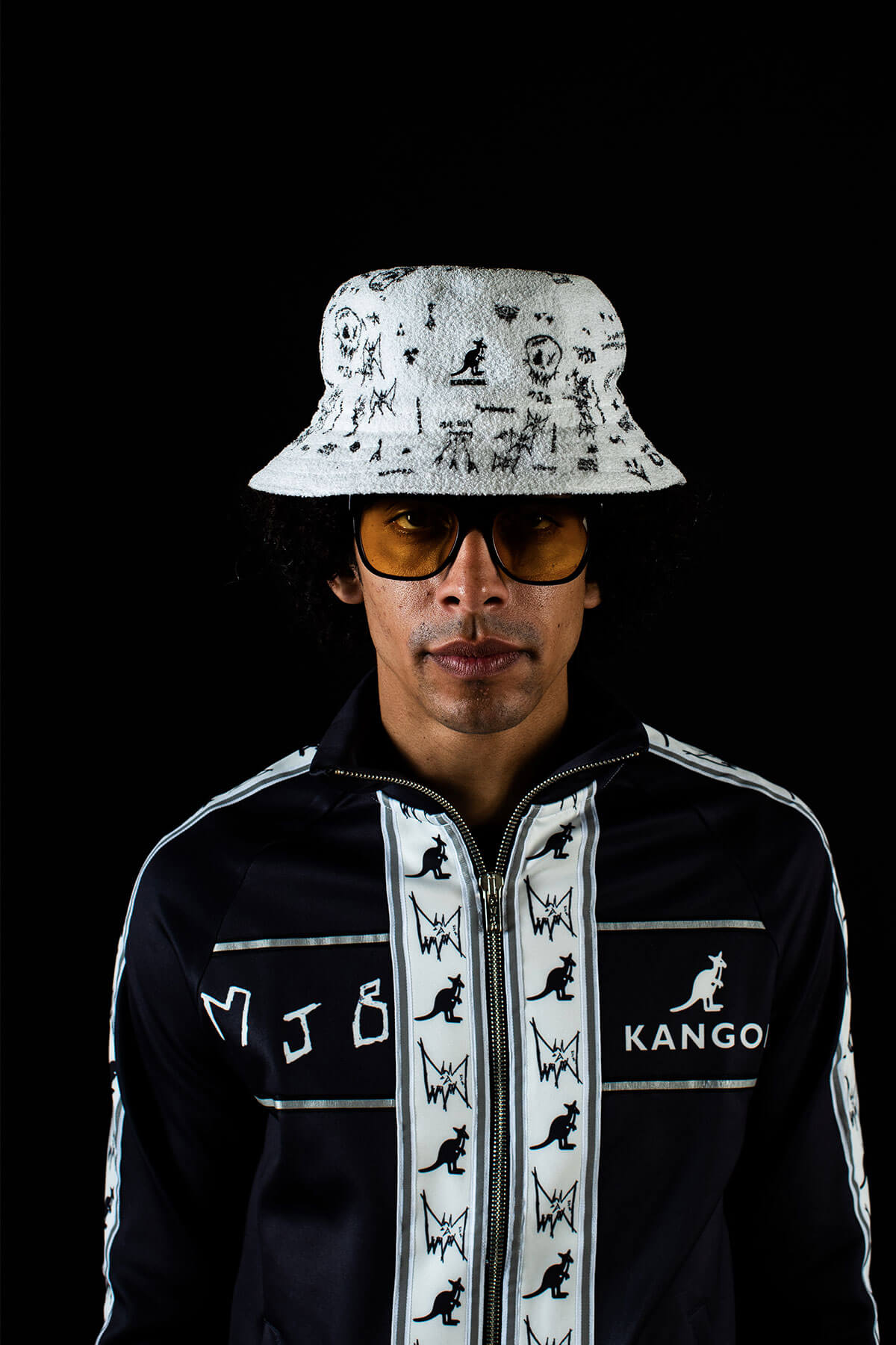 MJB X KANGOL BUCKET HAT BLACK - MJB