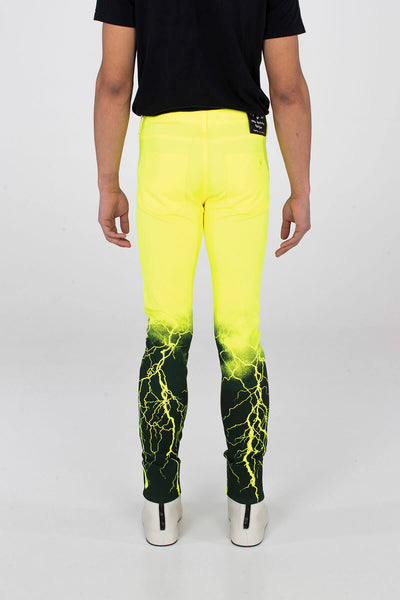 Crixus Jeans – Lightning Neon Yellow