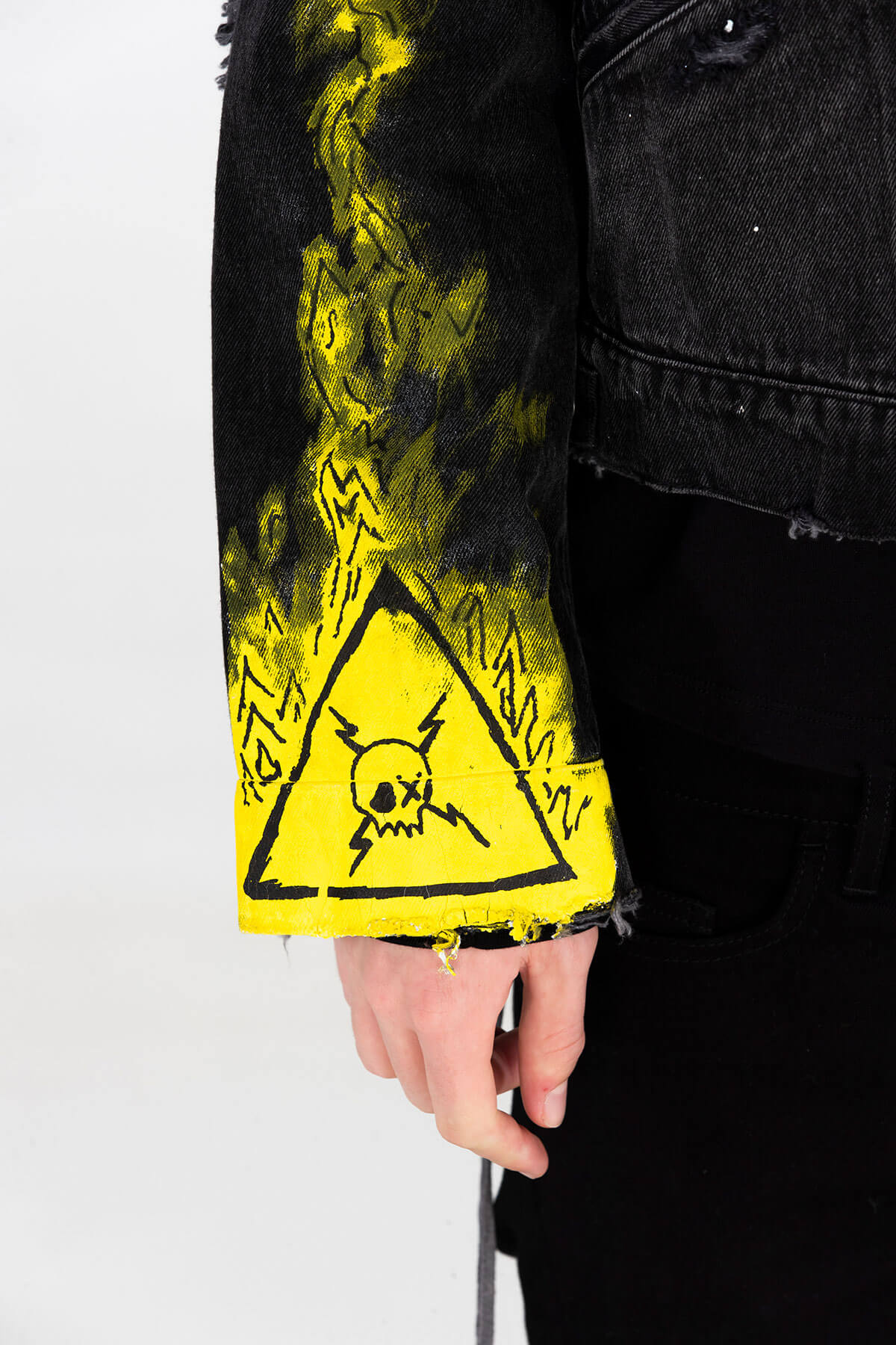 NEON PAX DENIM JACKET - HAND PAINTED - ARCHIVE JACKET - MJB