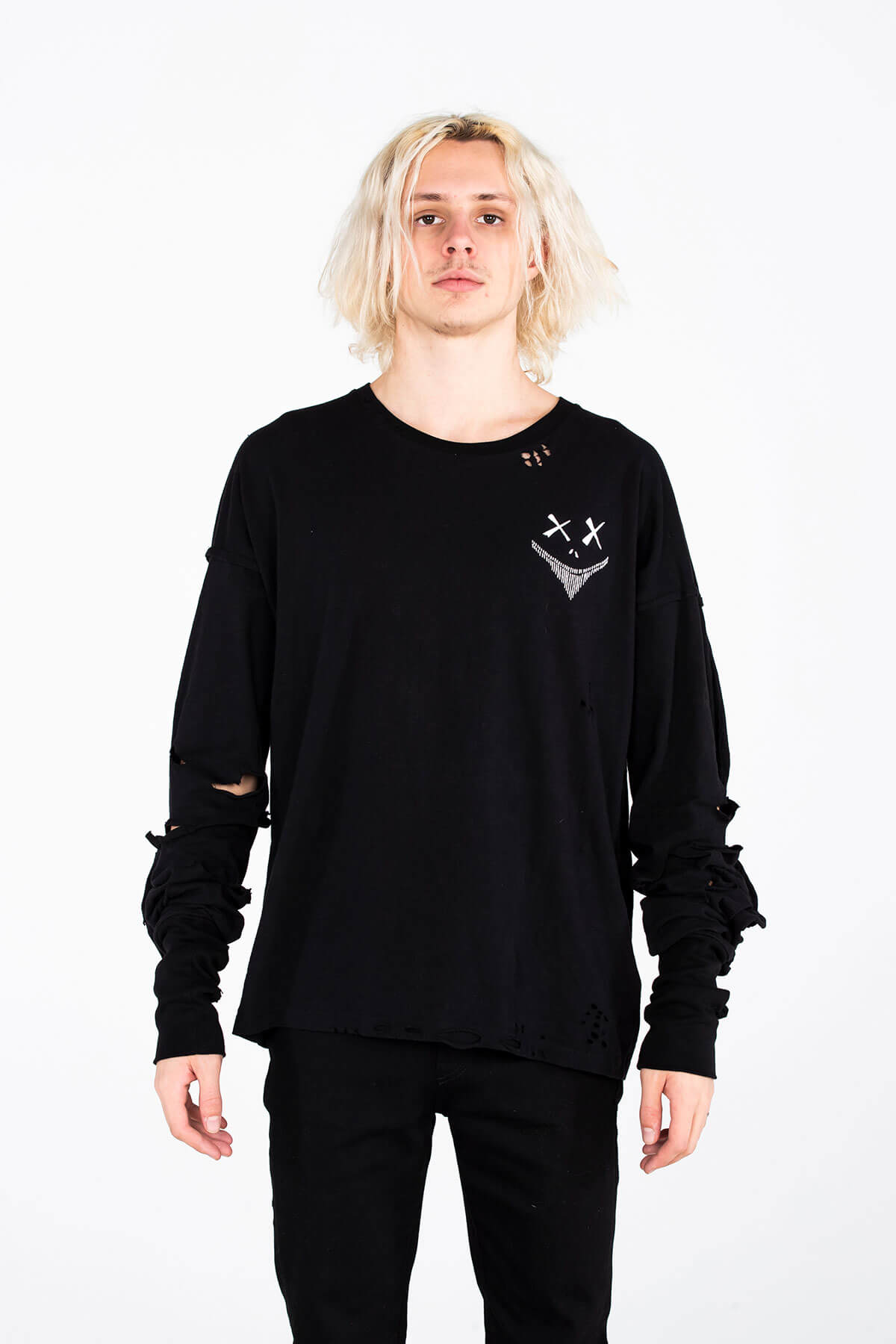 MAGNA CORNICES LONG SLEEVE T SHIRT – SILK SCREEN PRINT - ARCHIVE TOP - MJB