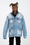 PAX DENIM JACKET - HAND PAINTED FINISH - ARCHIVE JACKET - MJB